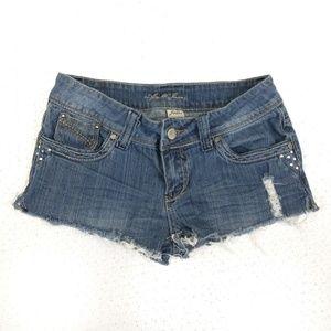 🌴 Apollo Jean mini shorts Distressed frayed